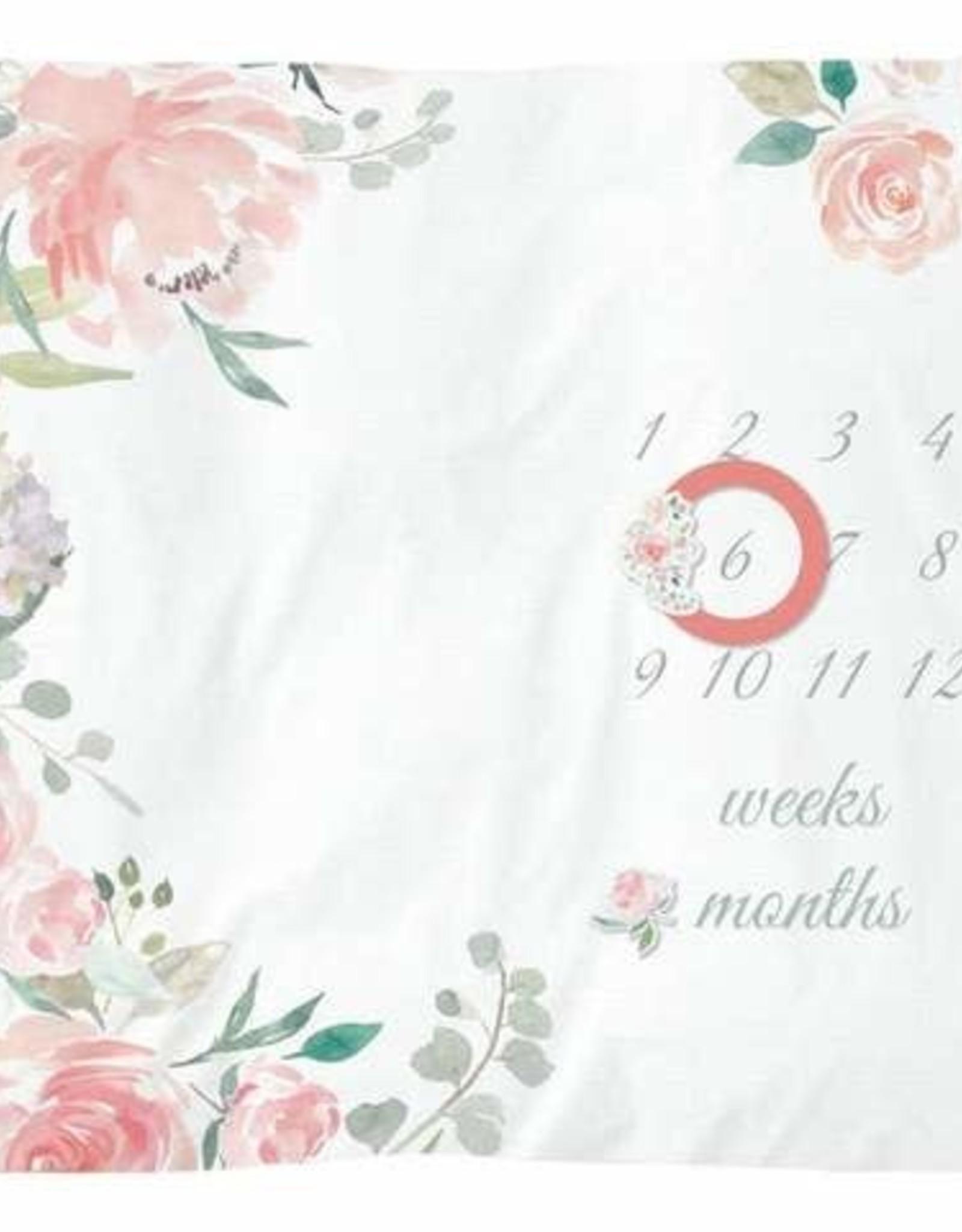 Itzy Ritzy Cutie Capture Floral Milestone Blanket