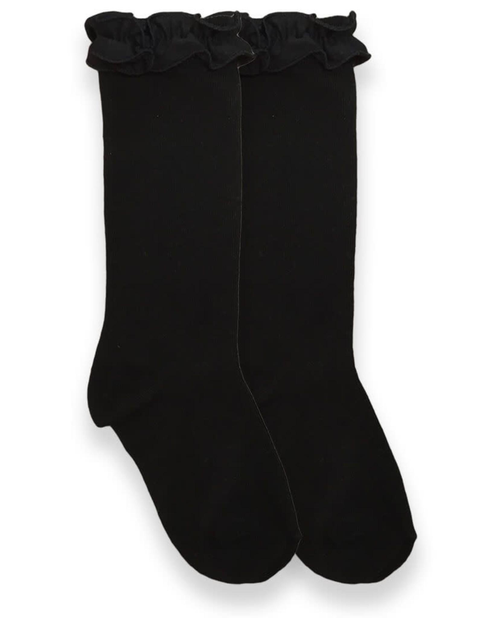 Black Ruffle Knee Socks