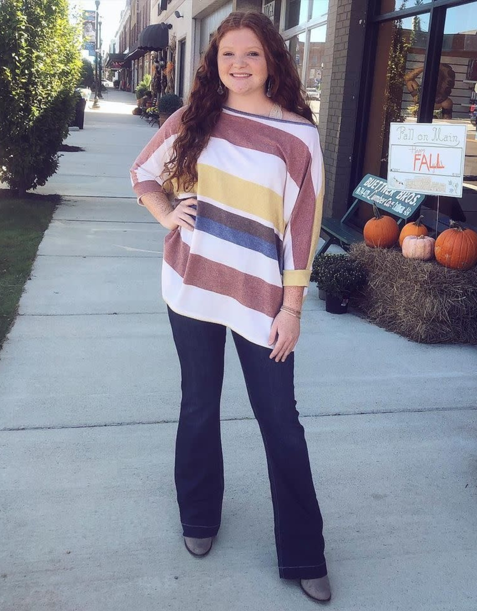 Betty Stripe OverSized Top