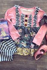 Honeydew Grayson Pink Button Set