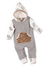 Tesa Babe Flying Saucers Hooded Pocket Romper