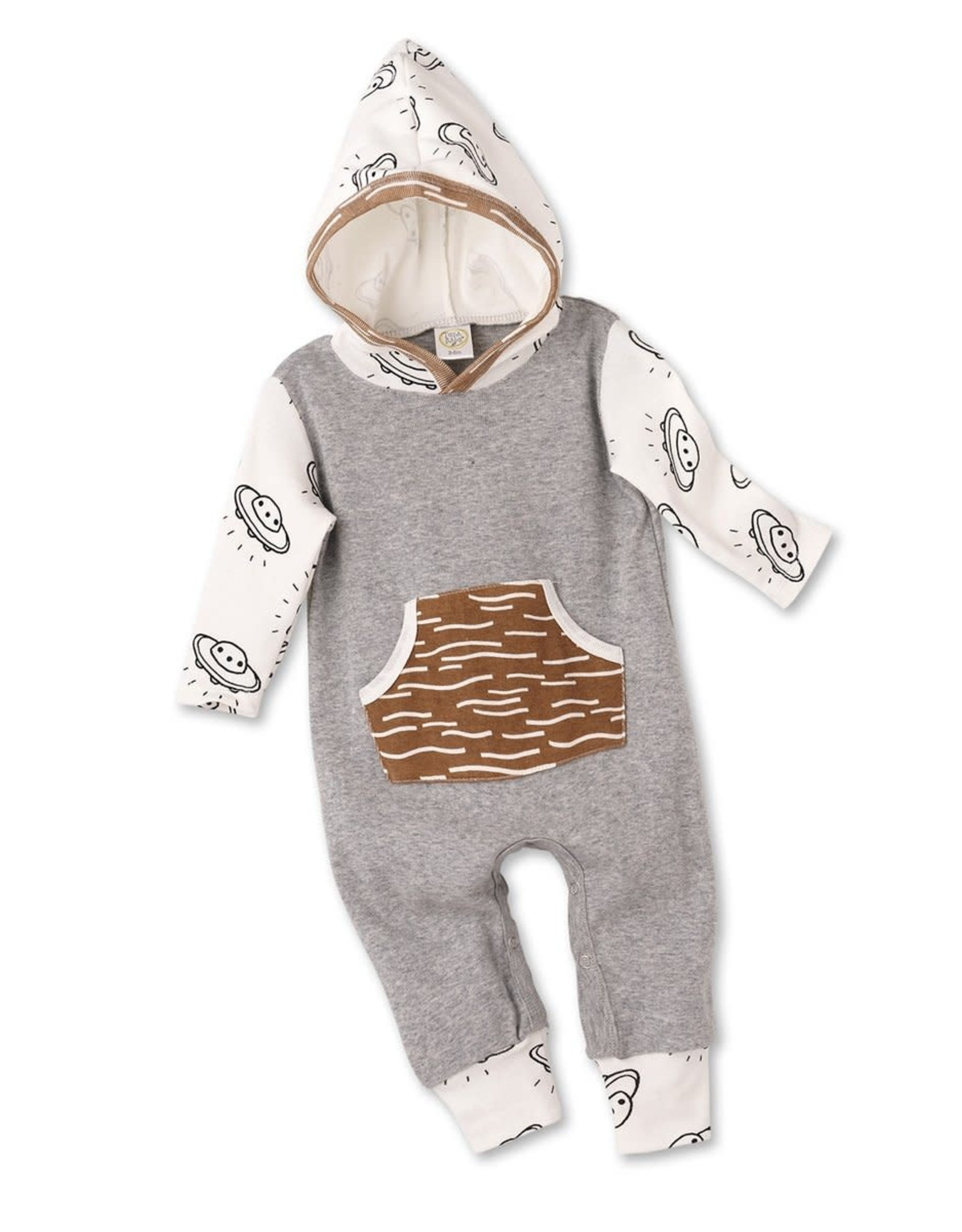 Tesa Babe Flying Saucers Hooded Pocket Romper