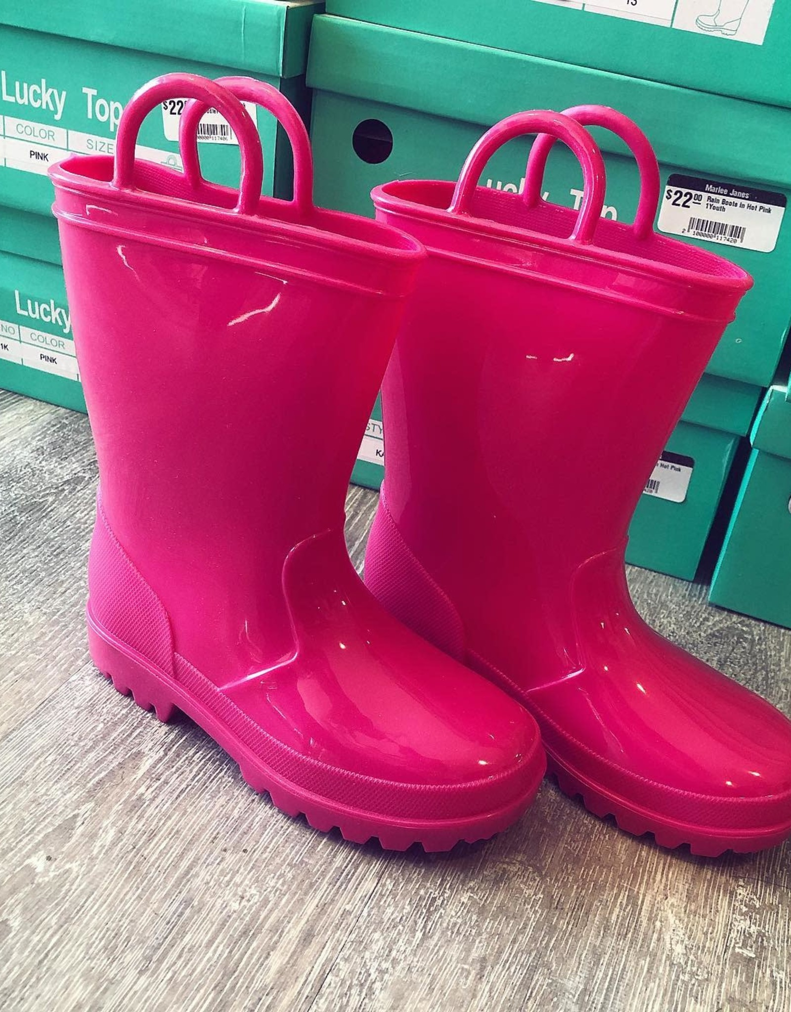 Rain Boots in Hot Pink