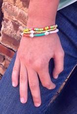 Pearl Charm Bracelet Set in Pastel