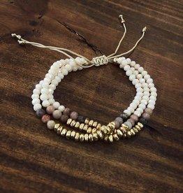 Stone Bead Bracelet in Taupe
