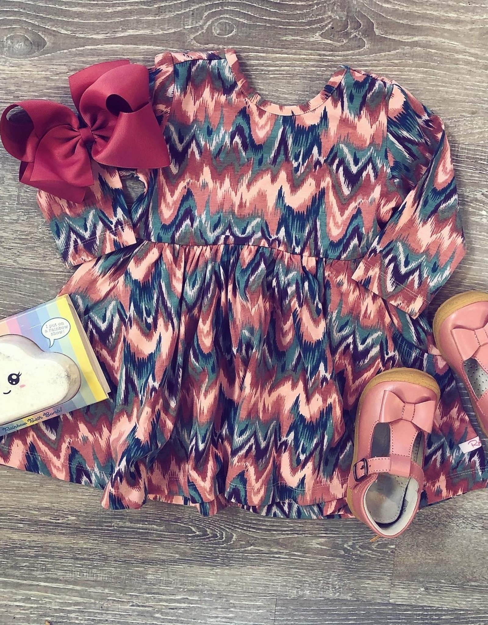 RuffleButts Watercolor Twirl Dress
