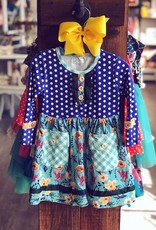 Honeydew Izzy Dress in Blue