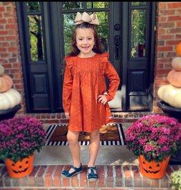 RuffleButts Spiced Clove Flutter Button Back Dress