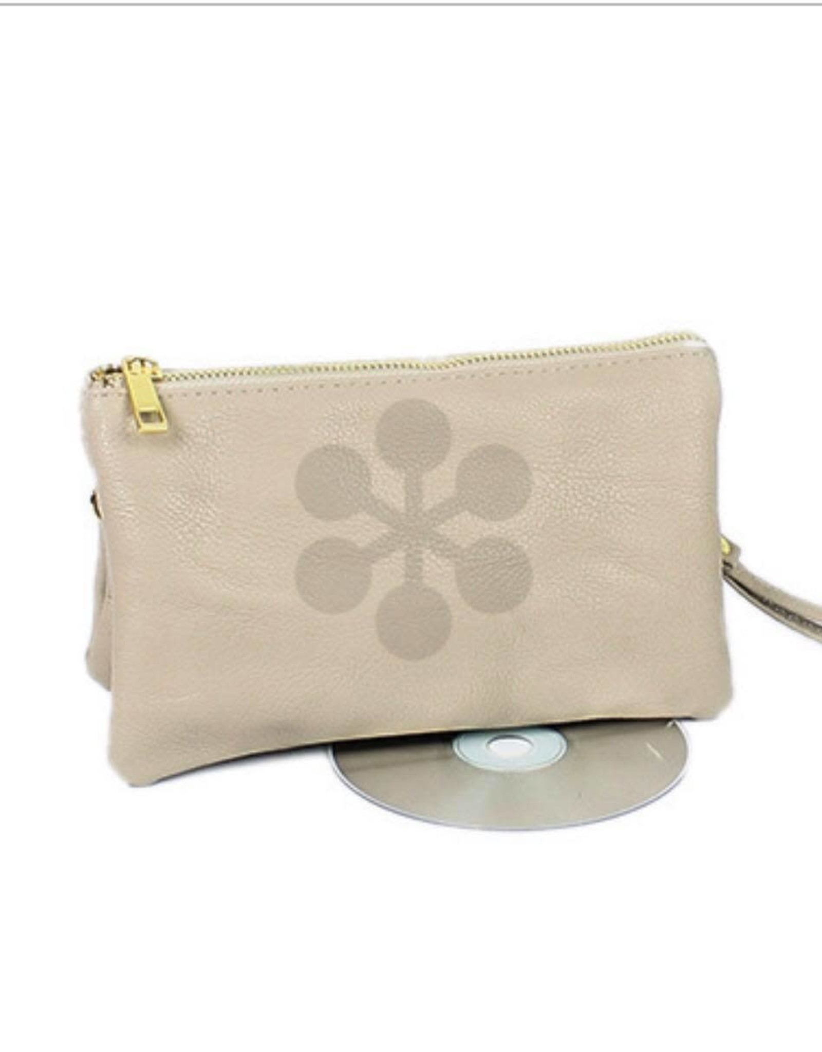 Leather CrossBody in Stone