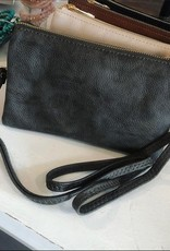 Leather CrossBody in Grey