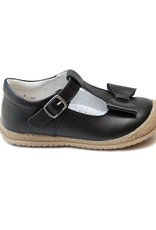 L'AMOUR Emma Autumn Bow T-Strap Mary Jane in Black