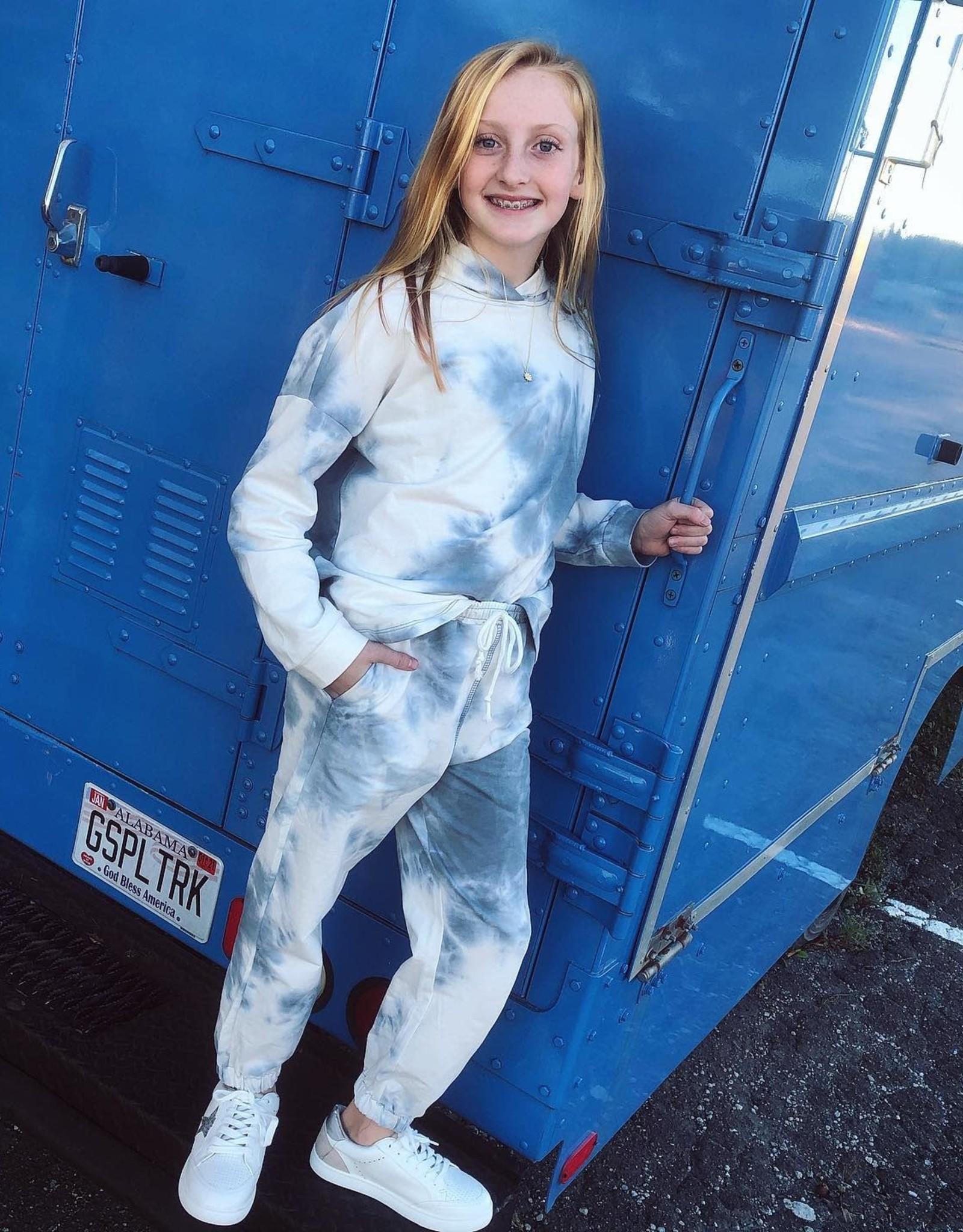 Hayden Blue TieDye Knit Joggers