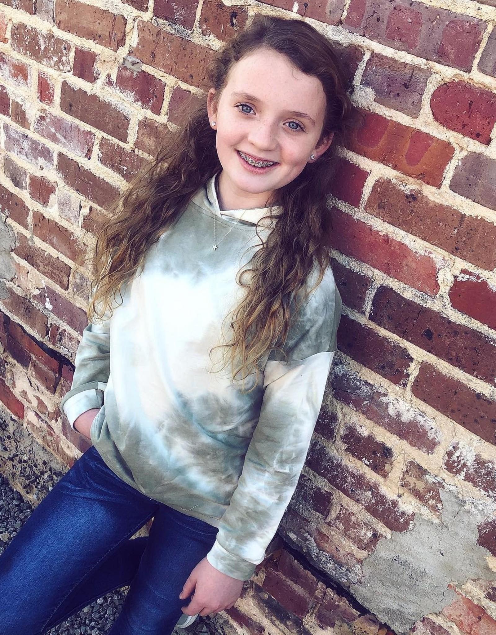 Hayden Olive TieDye Knit Hoodie