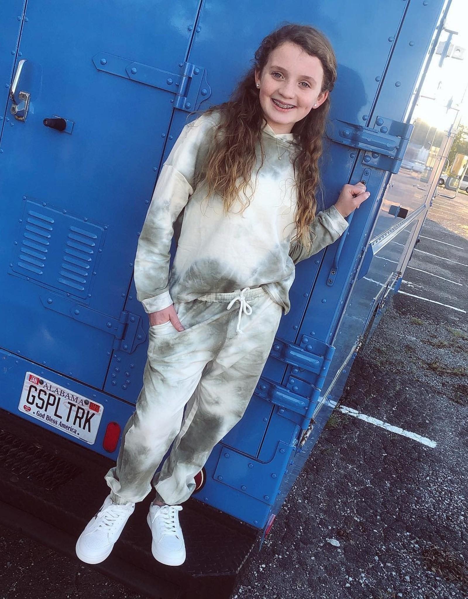 Hayden Olive TieDye Knit Joggers