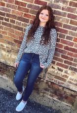 Cindy Blue Leopard Top