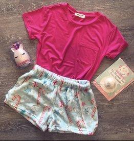 Iscream Christmas Candy Cane Plush Shorts