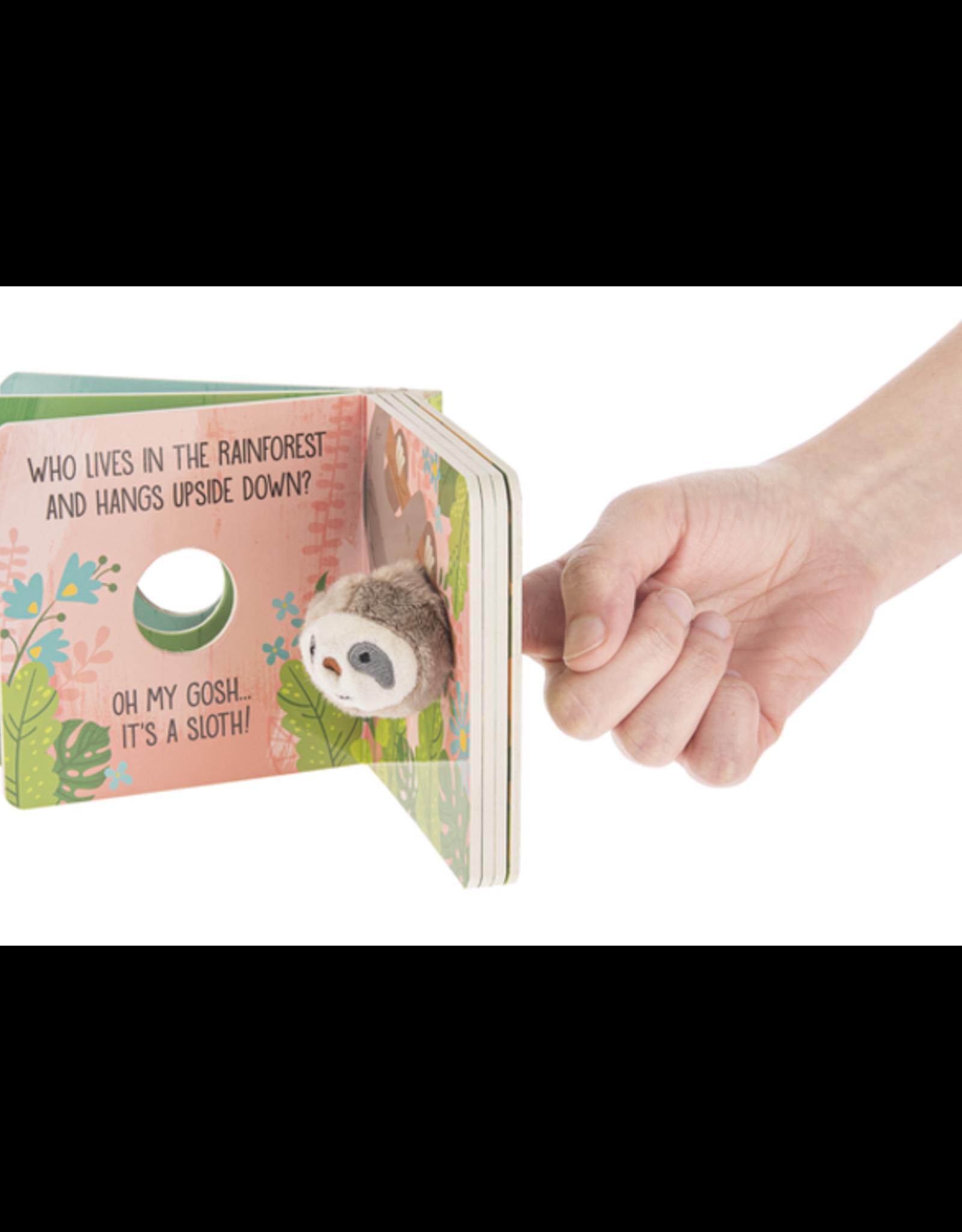 GANZ Sloth  Finger Puppet Book