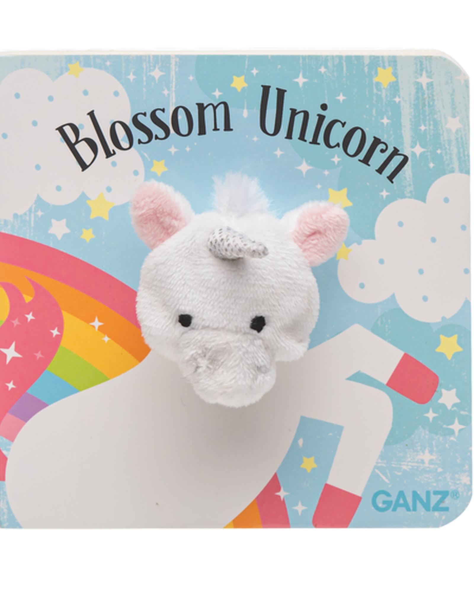 GANZ Blossom Unicorn Finger Puppet Book