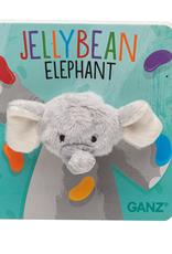 GANZ Jellybean Elephant Finger Puppet Book