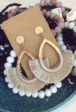 Wrapped Tassel Earring in Dark Ivory