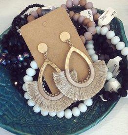 Wrapped Tassel Earring in Dark Ivory