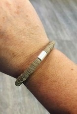 Rubber Bead Bracelet in Taupe