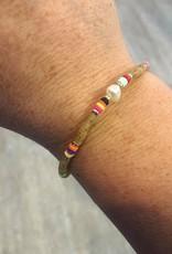 Single Pearl Bracelet in Beige