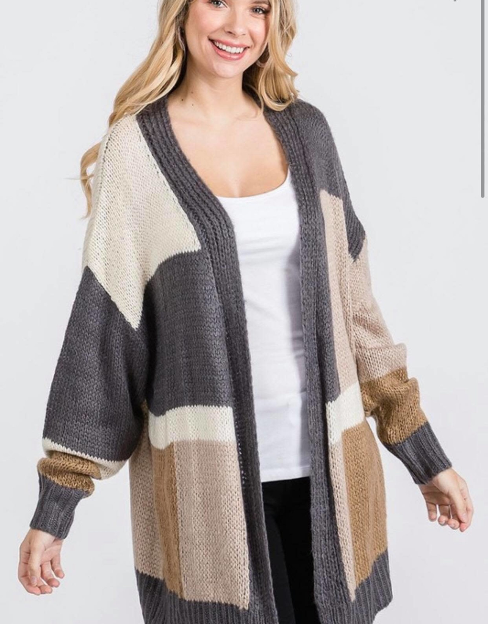 Charcoal Oversized Cardigan