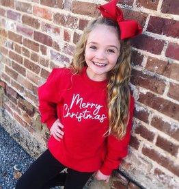 Merry Christmas Sweatshirt in Red