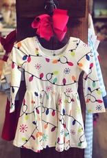 Charlies Project Christmas Lights Twirl Dress