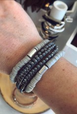 Wrap Bracelet in Gray
