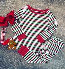 Sweet Bamboo Christmas Stripe PJ Set