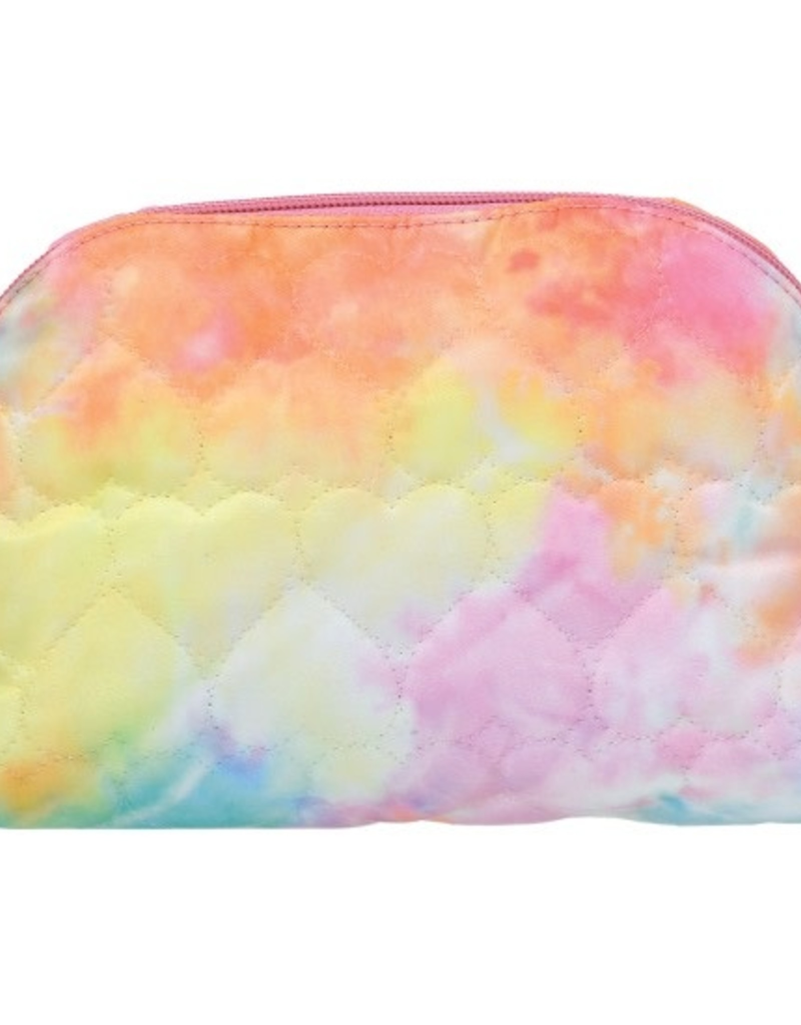Cotton Candy Heart Quilted Cosmetic Bag