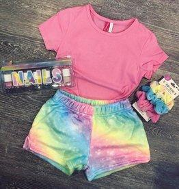 Iscream Shimmering Rainbow Plush Short