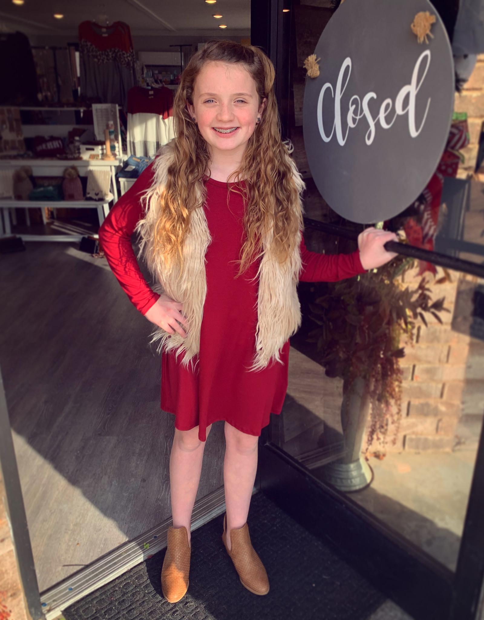 G to G Phoebe Burgundy Swing Dress