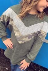 G to G Sally Camo Sweater