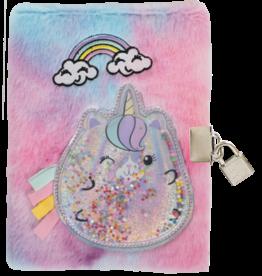 Iscream Caticorn Lock and Key Furry Journal