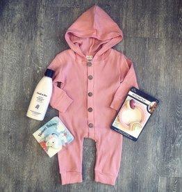 Honeydew Layla Hoodie Romper in Light Pink