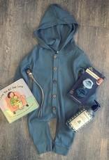 Honeydew Layla Hoodie Romper in Baby Blue