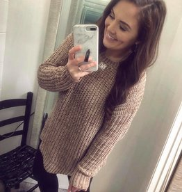 Chenille Sweater in Taupe