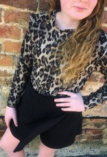Hayden Leopard Collar Knit Top