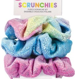 Iscream Shimmering Rainbow Scrunchies Set