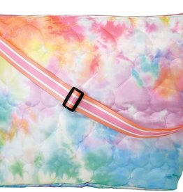 Iscream Cotton Candy Heart Quilted Weekender Bag