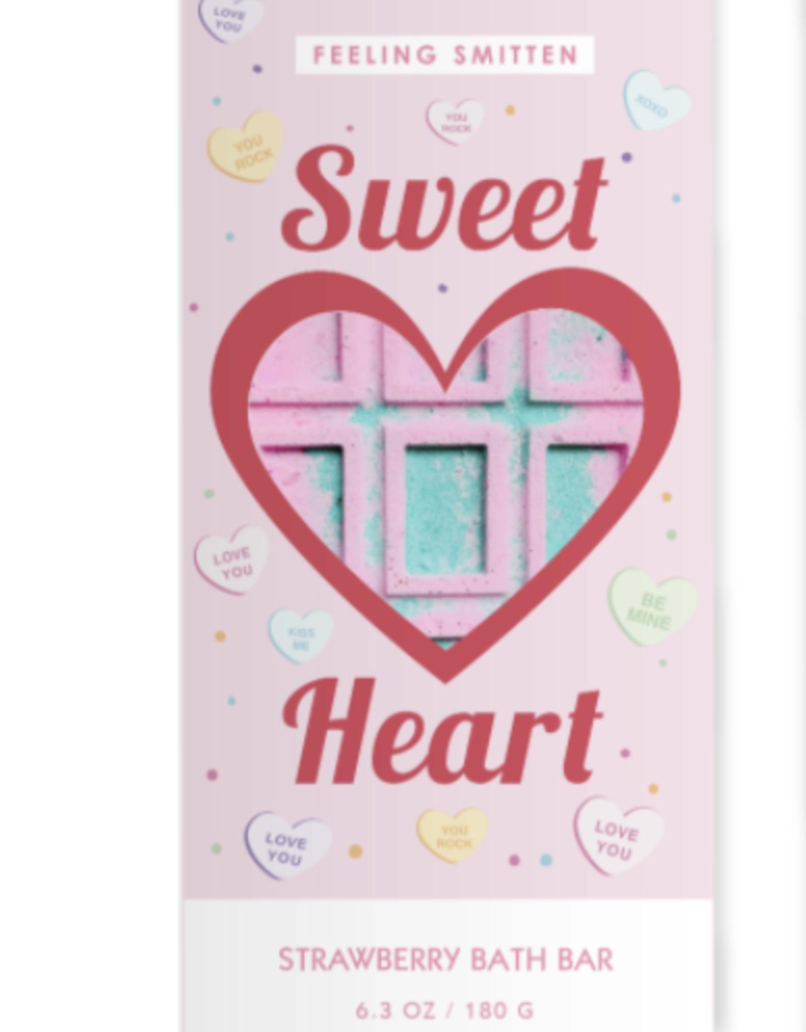 Feeling Smitten Valentine's Day Sweet Heart Rainbow Bath Bar