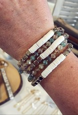 Kate Stretch Bracelet Set in Aqua
