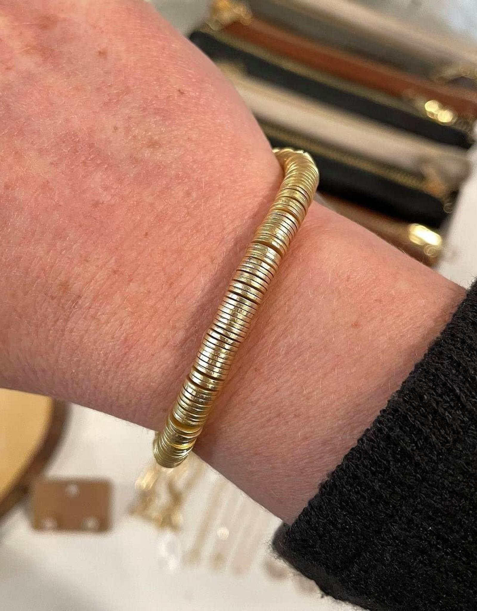 Single Gold Disc Bracelet