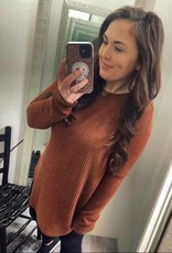 Linley Waffle Knit Tunic in Rust