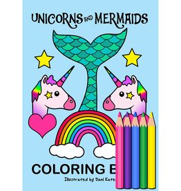 Kandi Designz Unicorns and Mermaids Mini Coloring Book