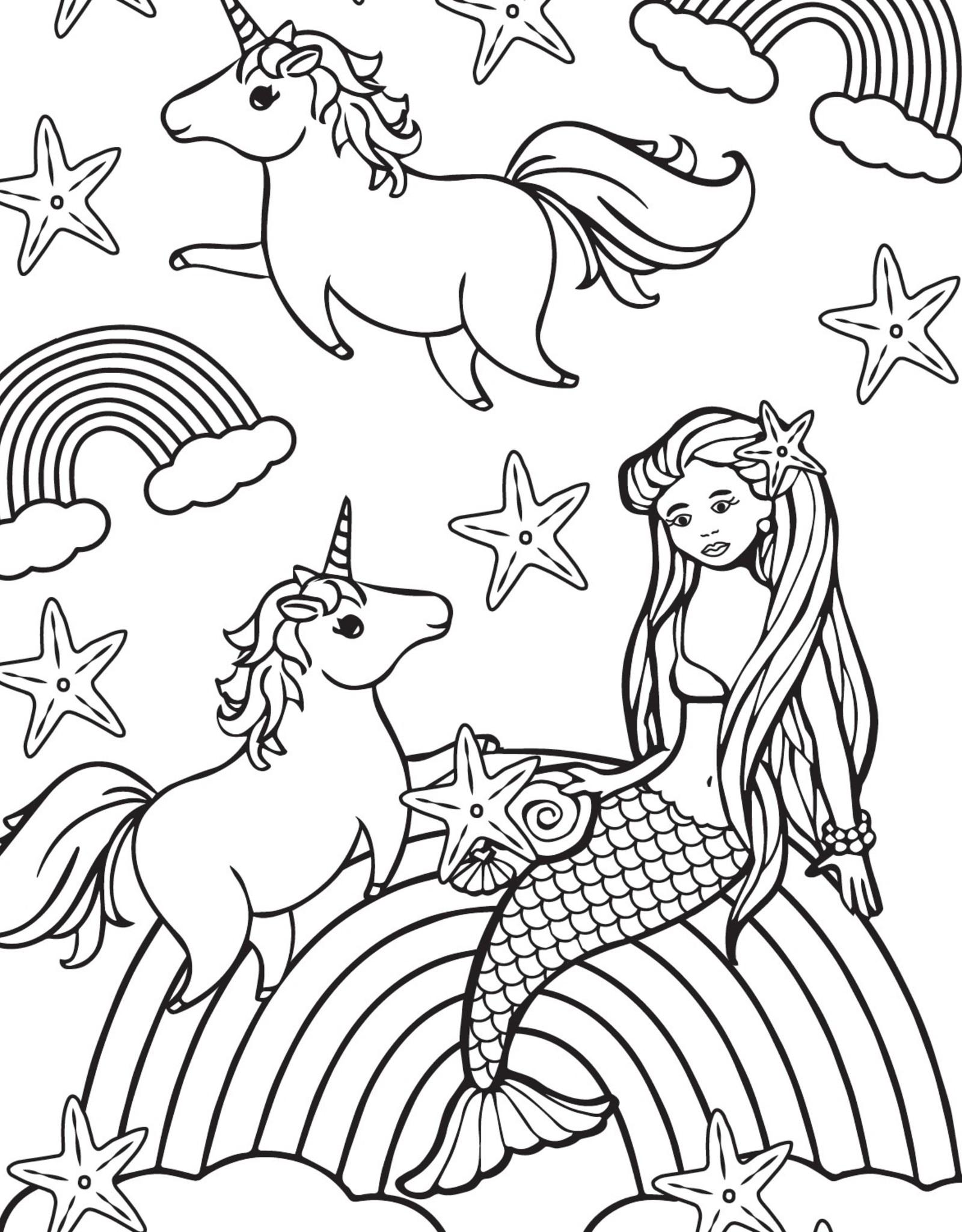 Kandi Designz Unicorns and Mermaids Mini Coloring Book