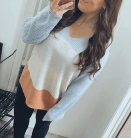 Hayden Knit Colorblock Sweater Top